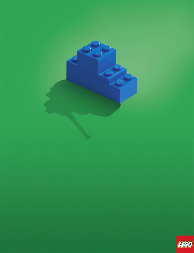 lego simple ad in minimalist advertising
