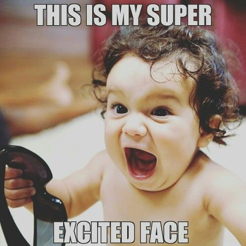 super excited face